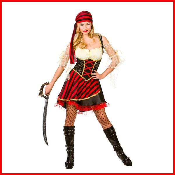 Donna Costume Sexy Pirata Da Di Halloween Carnevale Abito gbfyIY76v